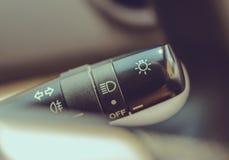 Makrofoto von Schalterscheinwerfern Lizenzfreie Stockbilder