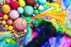 Makrofotografi av färgrika bubblor LXVI royaltyfri bild
