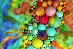 Makrofotografi av färgrika bubblor LXVIII royaltyfria foton
