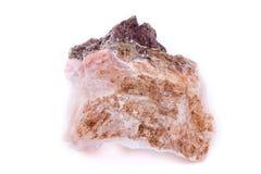 Makromineralsteinchalcedony auf einem weißen Hintergrund Stockfotografie