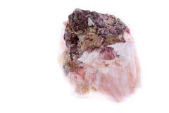 Makromineralsteinchalcedony auf einem weißen Hintergrund Lizenzfreie Stockbilder