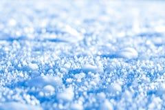 Makronärbild av is och snö royaltyfri fotografi