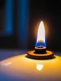 Makronärbild för olje- lampa royaltyfri foto