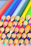 Makropancils der verschiedenen Farben Lizenzfreies Stockbild