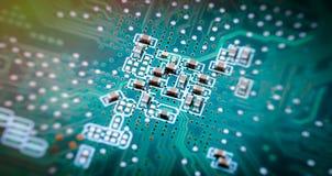 Makroschuß der Leiterplatte lizenzfreie stockfotografie