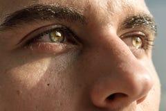 Makroschuß des Auges des Mannes Lizenzfreies Stockbild