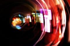 Makroschuß des vorderen Elements eines Kameraobjektivs Stockfoto