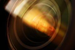 Makroschuß des vorderen Elements eines Kameraobjektivs Lizenzfreies Stockbild