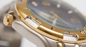 Makroschuß einer Uhr Stockfotografie