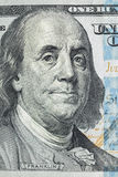 Makroschuß eines 100 Dollars Stockfotos