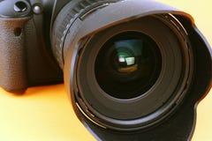 Makroschuß eines Kameraobjektivs Lizenzfreies Stockbild