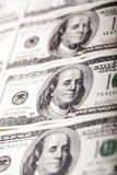 Dollarschein-Porträt Benjamin Franklins 100 Stockbild