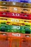 Makrosicherungen - breiter Fokus stockbilder