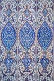 Makrosikt av mihrabtegelplattor i Rustem Pasa Mosque, Istanbul Royaltyfri Fotografi