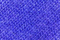Makrosikt på blå ulltexturbakgrund arkivbild