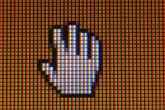Makroskärm lcd Arkivfoto
