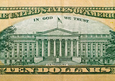 Makrosonderkommando der US $10 Bill Stockfoto
