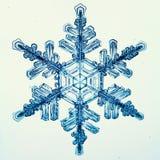 Makrostück der natürlichen Kristallschneeflocke Eis Lizenzfreie Stockfotografie