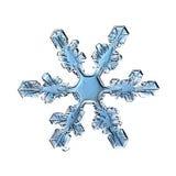 Makrostück der natürlichen Kristallschneeflocke Eis Lizenzfreie Stockbilder