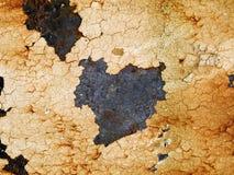 Makrotextur - metall - rostig metall och skalningsmålarfärg arkivbild