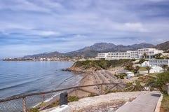 Makrygialos海滩胜地 库存照片
