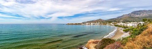 Makrygialos Beach Panorama Stock Images