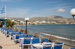 Makrygialos Beach Prominade Stock Image