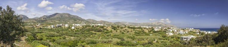 Makrygialos Panorama Stock Photo