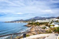 Makrygialos strandsemesterort Royaltyfria Bilder