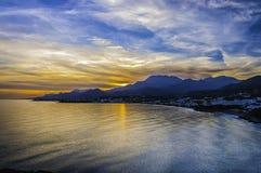 Makrygialos Sunset Stock Image