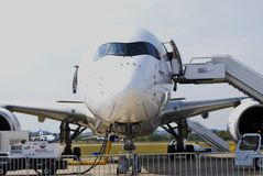 MAKS国际航空航天沙龙 100 sukhoi superjet 图库摄影