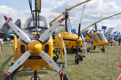 MAKS 2009. Autogyro Royalty Free Stock Images