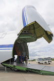 MAKS 2009. Flugzeug An-124 Ruslan Lizenzfreies Stockbild
