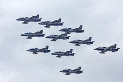 MAKS 2009. Frecce Tricolori italian group Royalty Free Stock Photo