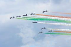MAKS 2009. Frecce Tricolori italian group Stock Image