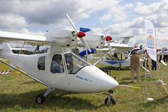 MAKS 2009. Small aircraft Royalty Free Stock Image