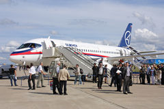 MAKS 2009. Superjet 100 Royalty Free Stock Images