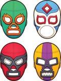 Maks de lutte mexicains illustration libre de droits