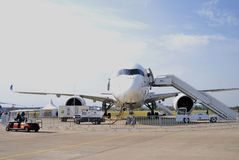 MAKS International Aerospace Salon. Sukhoi superjet 100 Stock Images