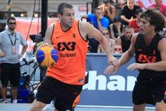 Maksim Zimarin - basquetebol 3x3 Fotos de Stock Royalty Free