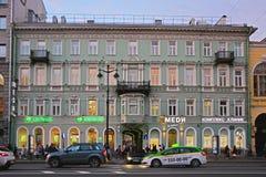Maksimovich将军有益的房子涅夫斯基大道的在圣彼得堡,俄罗斯 库存照片