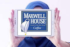 Makswella domowy kawowy logo Obrazy Stock
