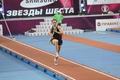 Maksym Mazuryk fa concorrenza nella volta di Samsung palo Fotografie Stock Libere da Diritti