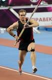Maksym Mazuryk fa concorrenza nella volta di Samsung palo Immagini Stock