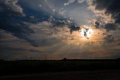 Makt av solstrålar Arkivfoton