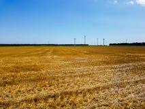 Makt av vind och det åkerbruka fältet royaltyfria bilder
