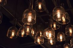 Makt för elektricitet för lampkulaljus Royaltyfri Fotografi
