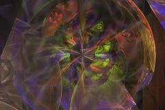 Makt för flamma för explosion för abstrakt digital för texturformfractal vetenskap för fantasi härlig kosmisk dynamisk vektor illustrationer