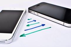 Makt för två mobiler av. Royaltyfri Bild