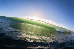 Makt för färg för havvåg Arkivfoto